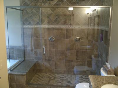 Euro Shower Door With Brushed Nickel Hardware